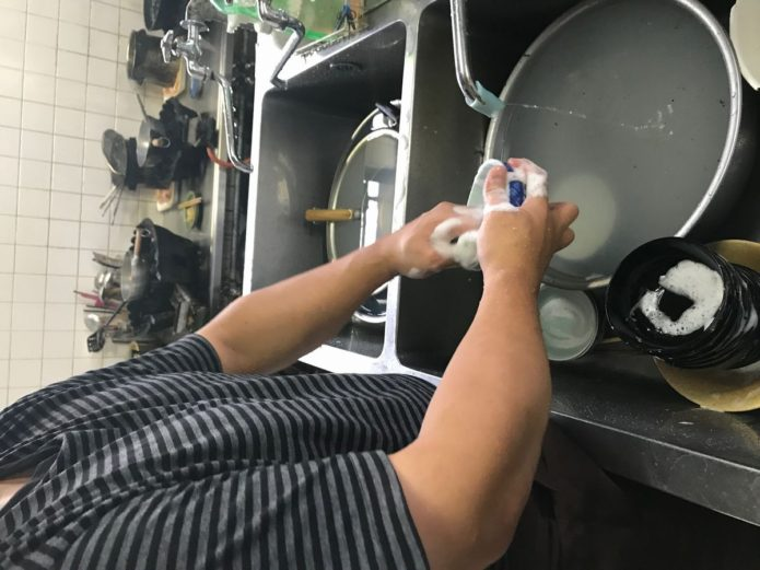 ちから 就労 洗い物