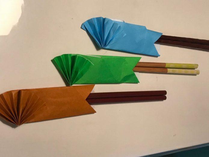 みんなの食堂 箸袋作り